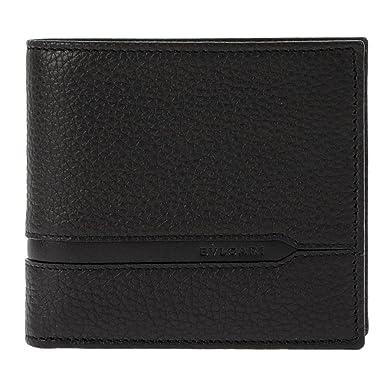 de7a27617687 Amazon.co.jp: ブルガリ 二つ折り財布 メンズ ブラック 36964 オクト ...