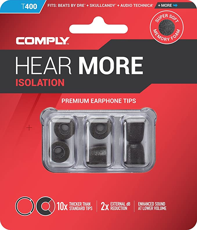 Comply T-400 Series - Almohadillas de espuma para auriculares in-ear (3 pares, talla S), color azul: Amazon.es: Electrónica