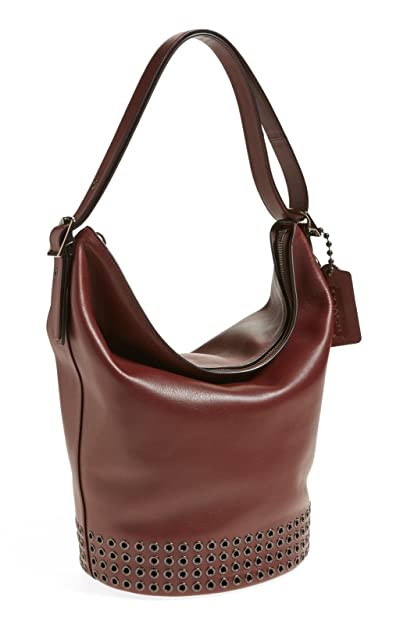 a4546260a1e2 50% off coach bleecker large leather grommet duffel in antique nickel brick  red 32392 handbags