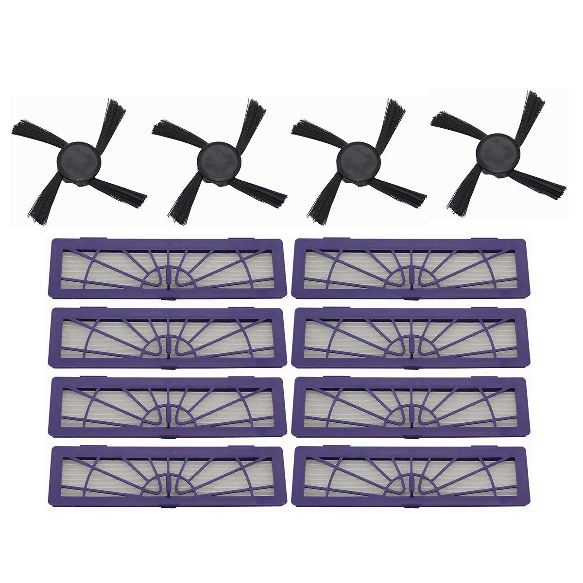 raogoodcx 8 Filtro HEPA, 4 cepillos laterales accesorios kits para Neato Botvac 70e 75 80 85 D75, D80 D85 Series Robotic aspiradoras robot: Amazon.es: Hogar
