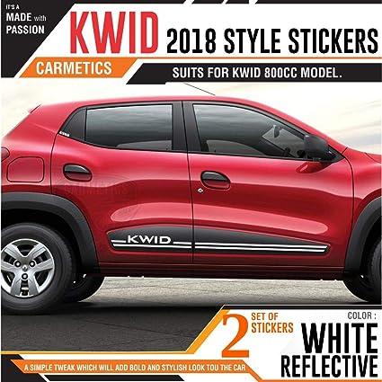 CarMetics Kwid 2018 Logo Style Stickers for Renault Door kwid 800CC –  Chrome Vinyl 2 Sets – Free Chrome Petrol Sticker – kwid Chrome Stickers  Decals