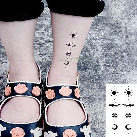 10 Piezas de Pegatinas de Tatuaje a Prueba de Agua Curva Tatuaje ...
