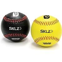 SKLZ Pelotas de béisbol pesadas (amarilla 283.5 g, negra 340.2 g), paquete de 2