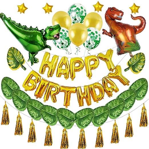 XHJZ-W Decoraciones de Fiesta de cumpleaños de Dinosaurios ...