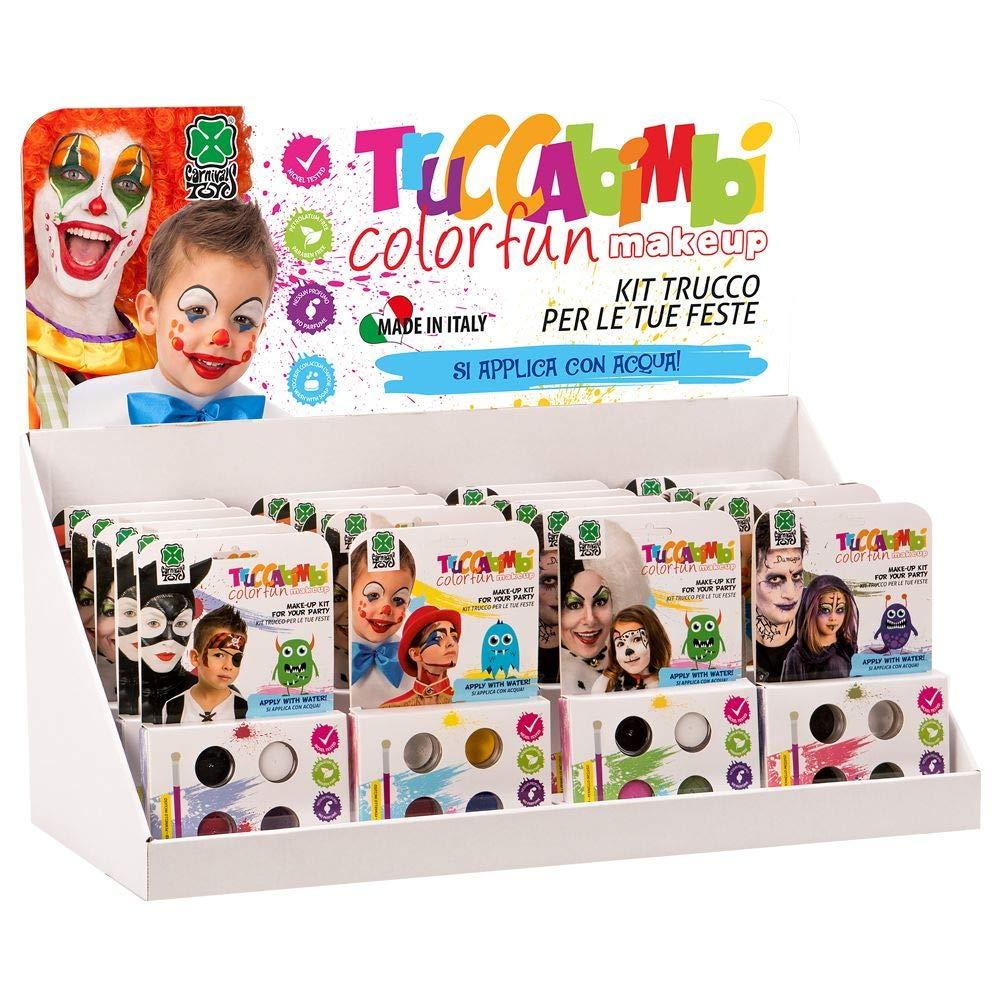 Carnival Toys Espositore 20 kit trucco professionale ad acqua pennello col.ass.