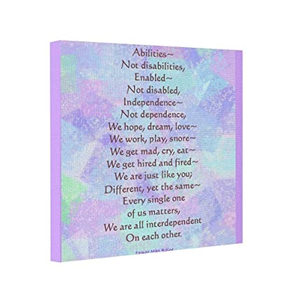 amazon com moc moc abstract art canvas abilities poem picture