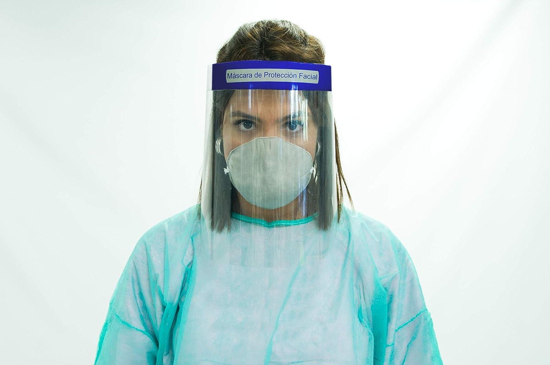 Oedim Pack 10 Uds Pantalla Protección Facial Transparente | Máscara de Protección Facial