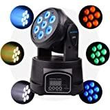 Betopper 7*8W LED Spot Stage Light DMX 512 Professional Mini Moving Head Lighting 4 in 1 RGBW Strobe Effect 9/14 Channels for Restaurant,Club,Wedding,Home Party