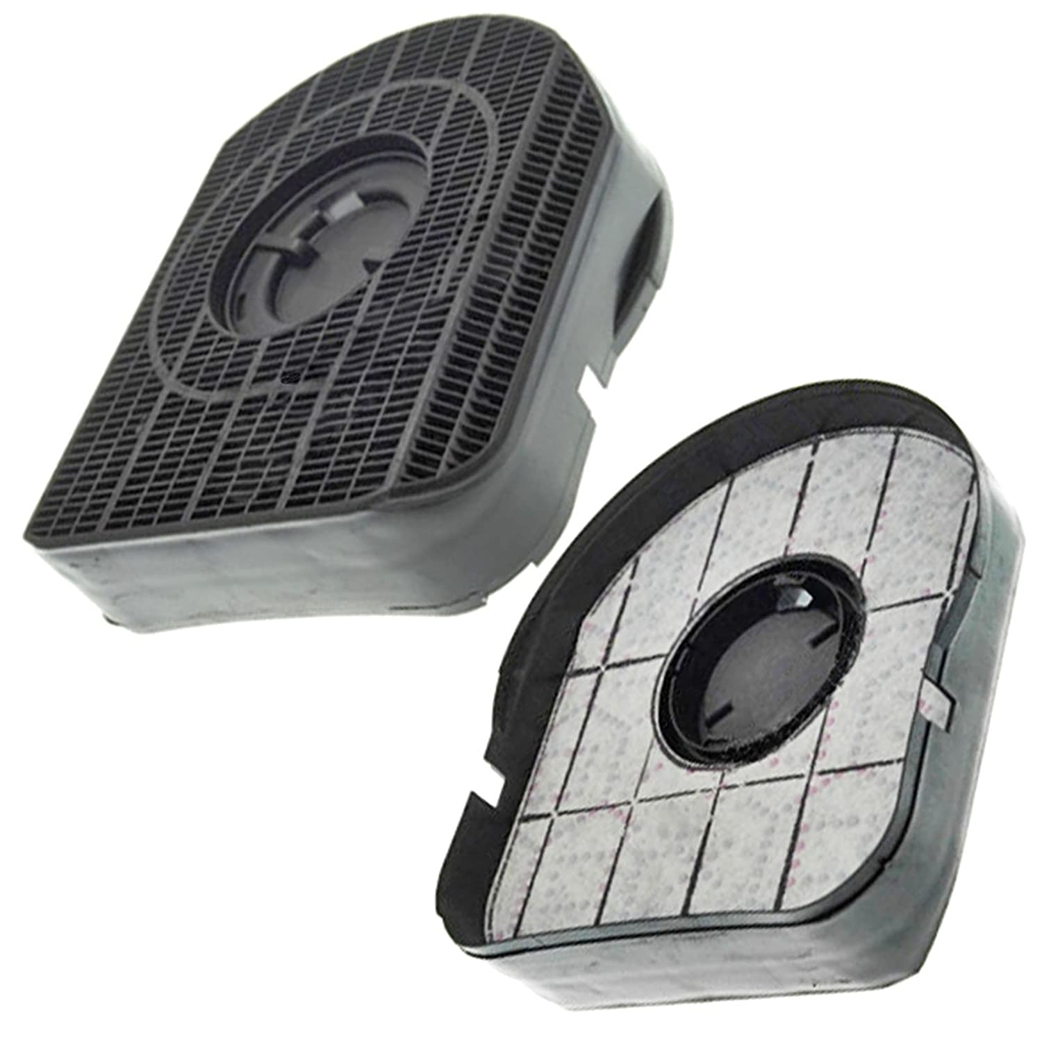 SPARES2GO Type 200 Charcoal Carbon Filter for Belling CHIM60 CHIM90 Cooker Hood Vent Extractor (Pack of 2)