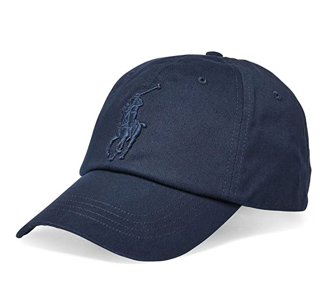 Polo Ralph Lauren Men`s Leather Strap Embroidered Chino Baseball Cap (One  Size 52fe7a3374a3