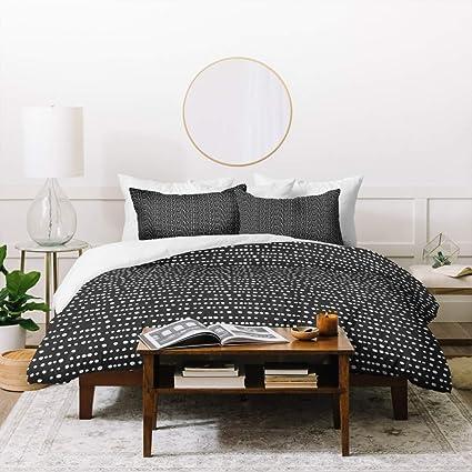 925e98123f7 Amazon.com  3 Piece Black White Fun Polka Dots Stripe Pattern Duvet ...