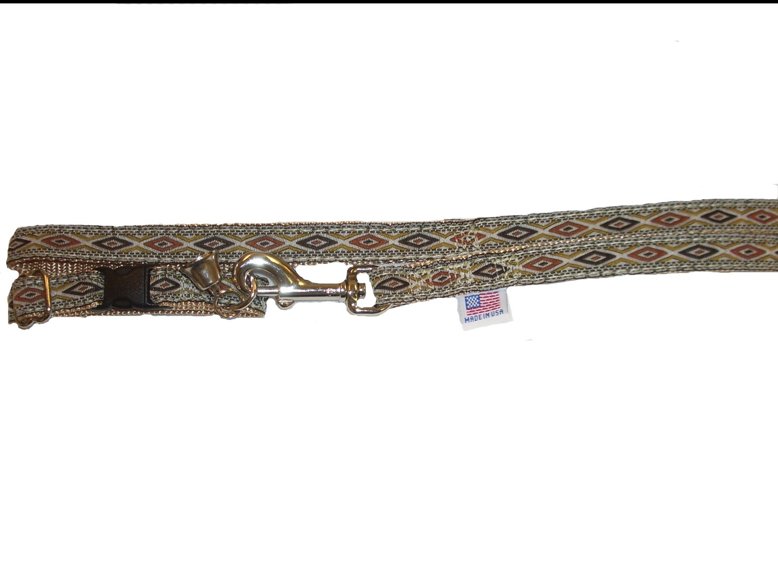 Copperhead on Tan Adjustable Ferret Collar with Bell and Matching 4 Ft. Leash