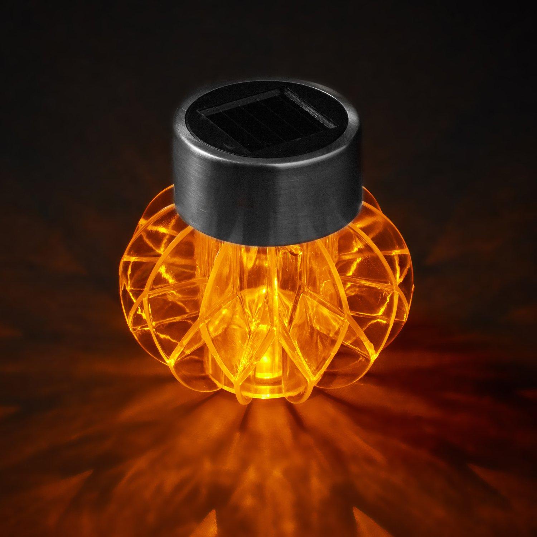 2er Set Solar Wegbeleuchtung orange Solar Tischbeleuchtung orange Amazon Garten