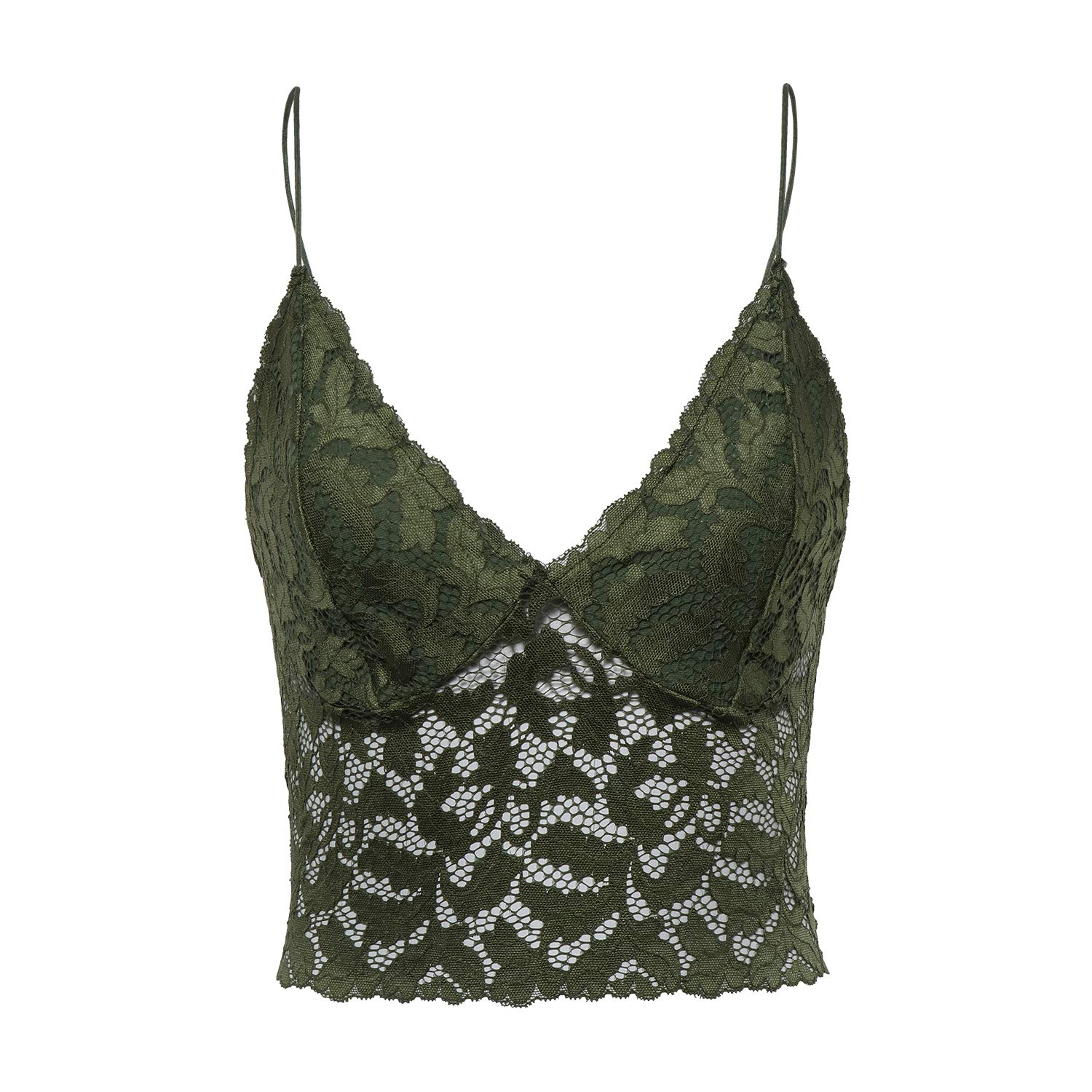 e03711418a3876 Triangle cups flower halter bralette perfect to lay under tees and shorts.  Sheer mesh lace feeling and decorative trimming as well as leaves patterned  ...