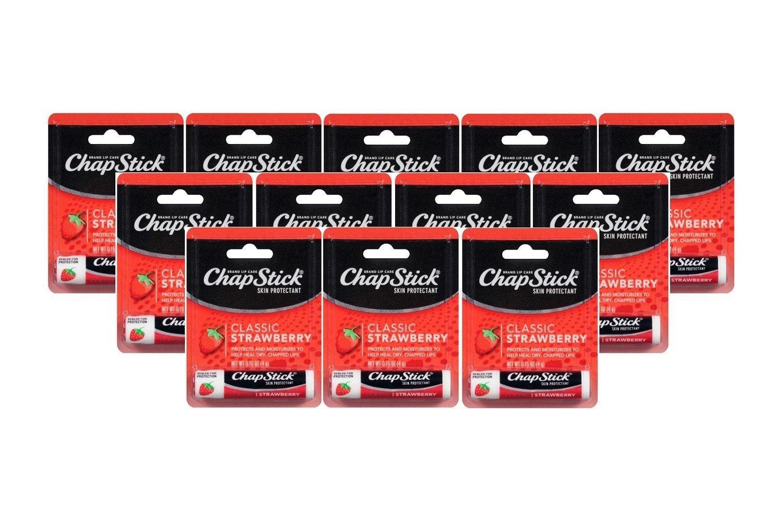 ChapStick Lip Balm Strawberry 0.15 oz (Pack of 12)