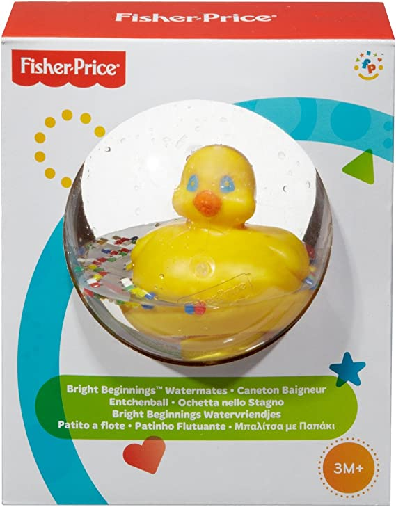 Fisher-Price 75676 Watermates Duck Ball New-Born Baby and Toddler Yellow Bath