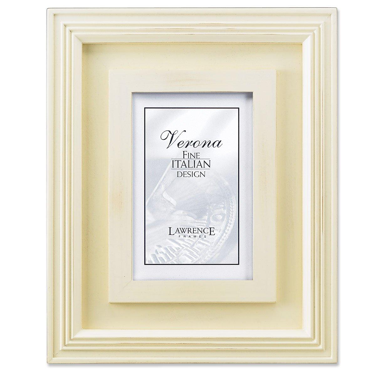 Amazon.com - Lawrence Frames Dimensional Distressed Cream Wood 8x10 ...