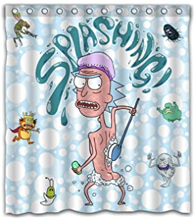 Nigel Thornberry Shower Curtain Uk YBin Bedroom Decorative Funny Splashing Printed Waterproof Polyester Fabric 12 Hooks Included Size 66