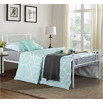Amazon Com Simlife Metal Bed Frame Solid 6 Legs Two Headboards