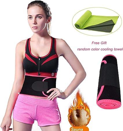 Sweat Belt Body Shaper Waist Trimmer Trainer Weight Loss Belly Fat Burn Stomach