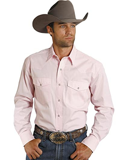 7b9dcb971f5e4 Roper Men s Solid Poplin Long Sleeve Shirt at Amazon Men s Clothing ...