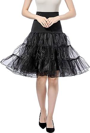 Gardenwed Enaguas para Vestidos Faldas Cortas Rockabilly Retro Vintage