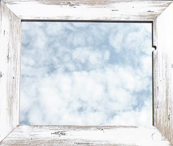 Amazon.com: Hand Made Barn Wood Style White Washed Rustic Mirror ...