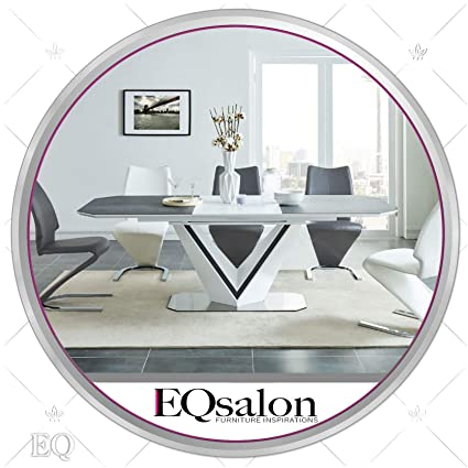 Amazon.com - Stylish Modern Extendable Dining Table White ...
