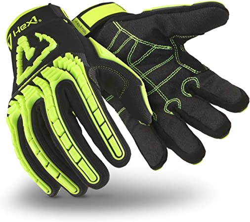 Black//Yellow Size 8//M MAGID TRX742 Windstorm Series Impact Gloves ANSI A6 Cut Resistant Hi-Viz Safety Work Gloves with Cool Mesh Venting 1 Pair