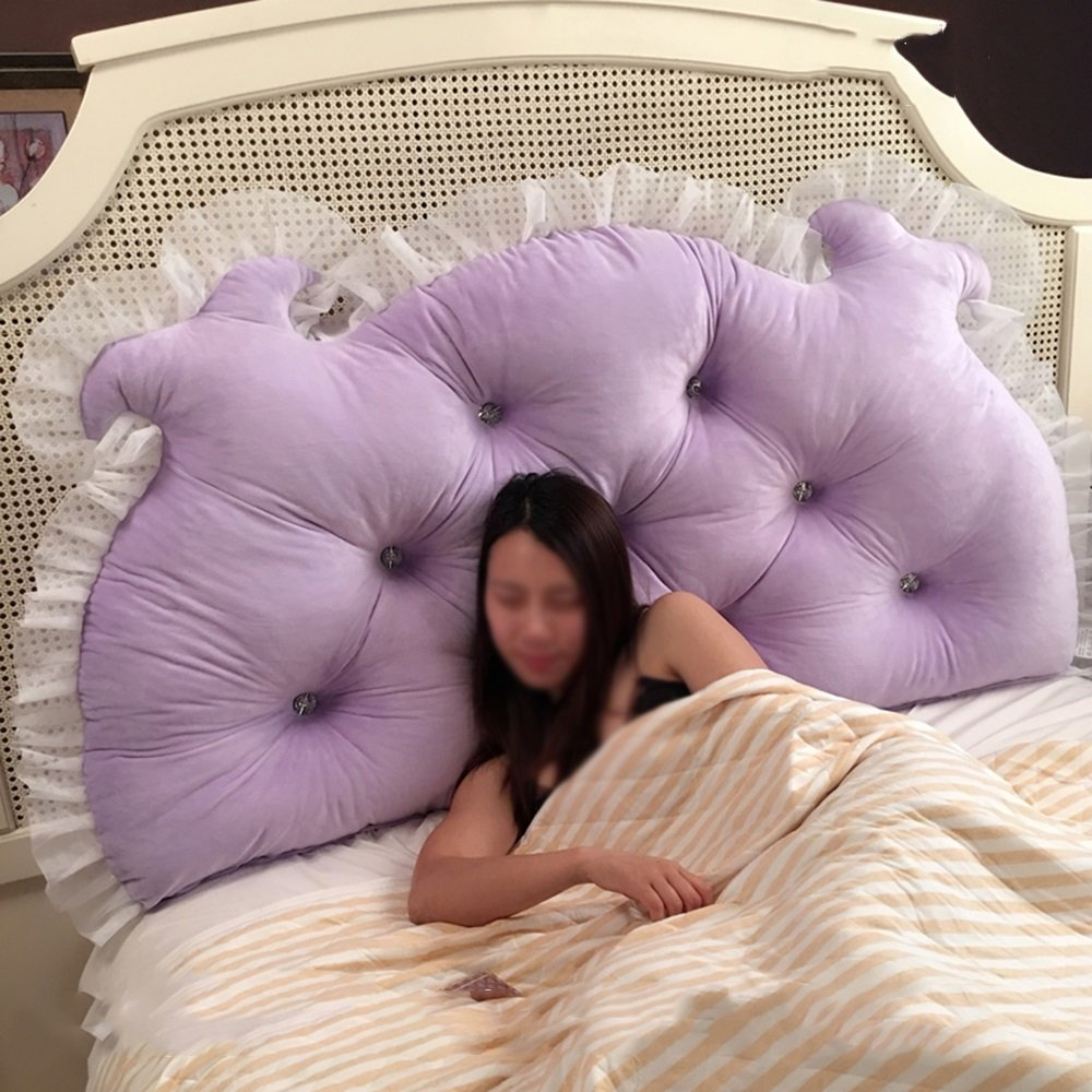 LJHA kaodian Hold Pillow Triangle Pillow Bed Cushion Double Pillow Multi-style Cushions (Color : E, Size : 2.0M)