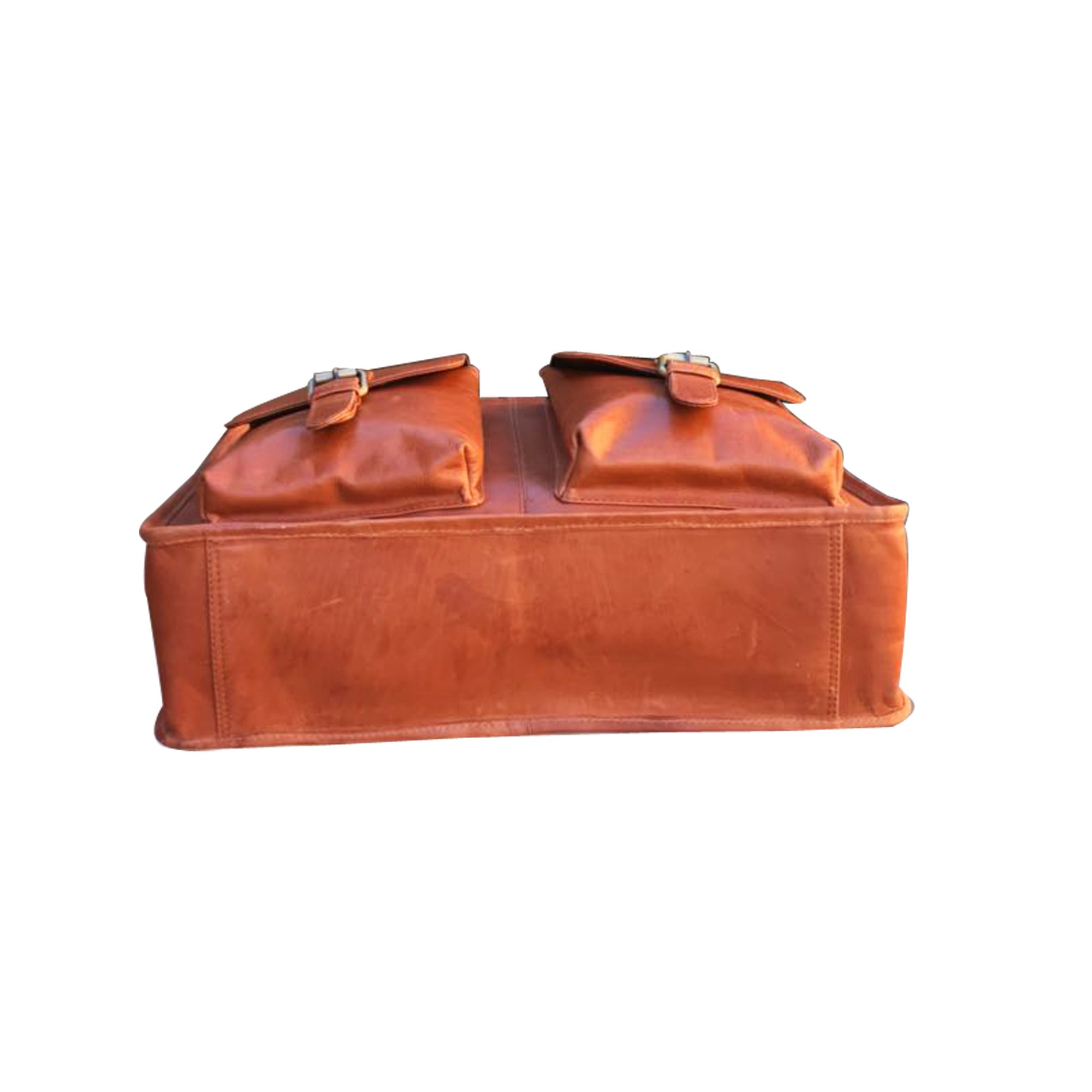 Finelaer Leather Laptop Computer Messenger Bag with Pockets for laptops Macbooks 14'' Brown by FINELAER (Image #5)