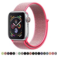 Corki for Apple Watch Strap 38mm 40mm 42mm 44mm, Nylon Sport Loop Band Replacement Wristband for Apple iWatch Series 4, Series 3, Series 2, Series 1