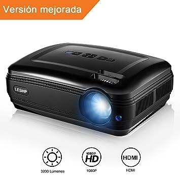 Proyector, 1080P HD Cine Privado Proyector de Escritorio ...