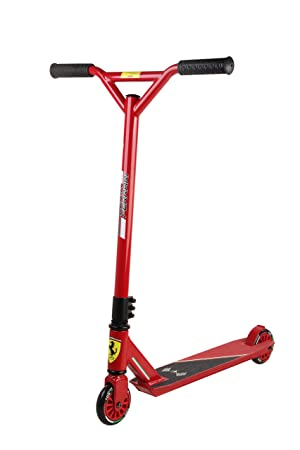 Ferrari Scooter Patinete Stunt Scooter Escúter freestyle Niños Peso máximo 80kg Rojo