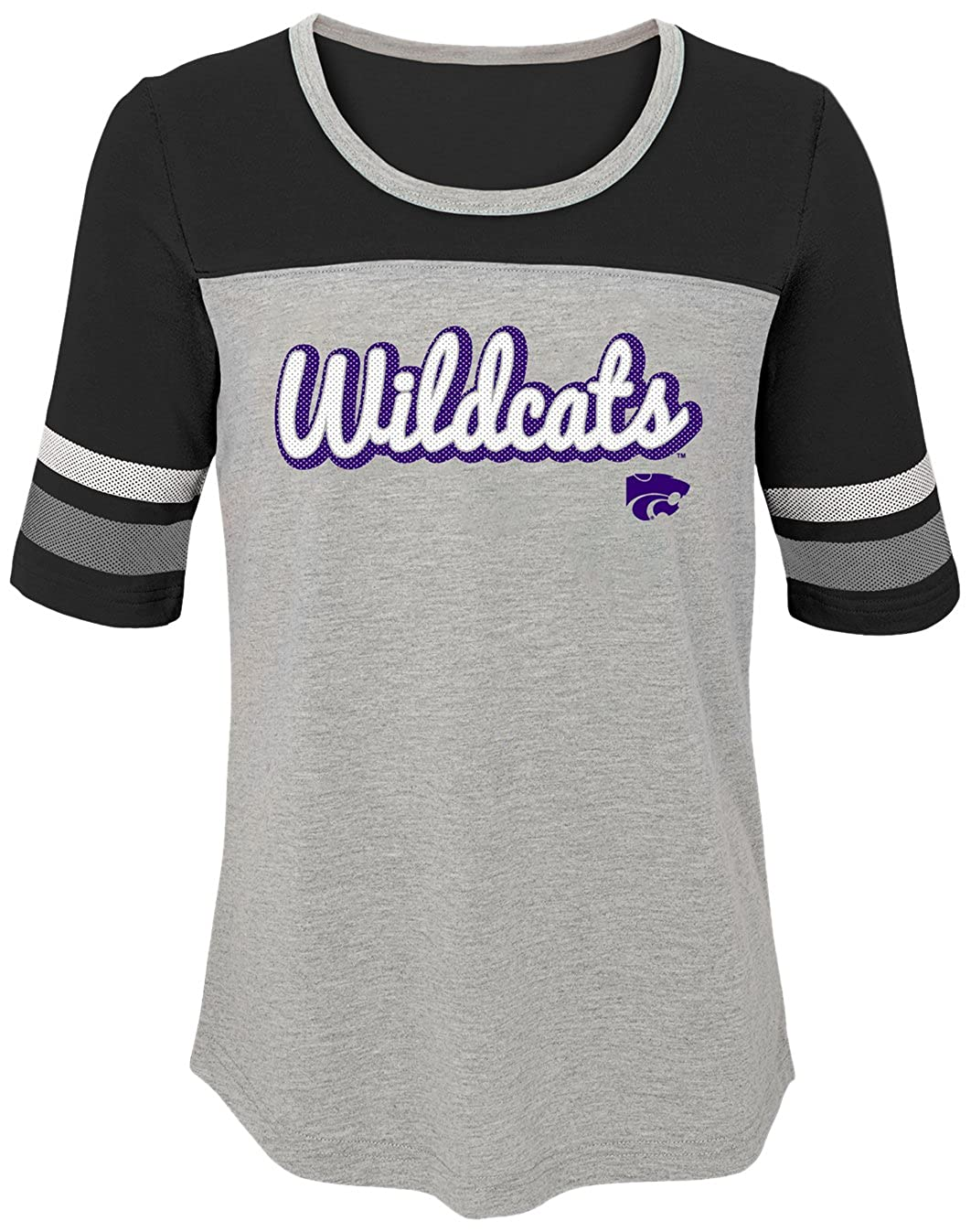 Youth X-Large NCAA by Outerstuff NCAA Kansas State Wildcats Youth Girls Fan-Tastic Short Sleeve Tee Black 16