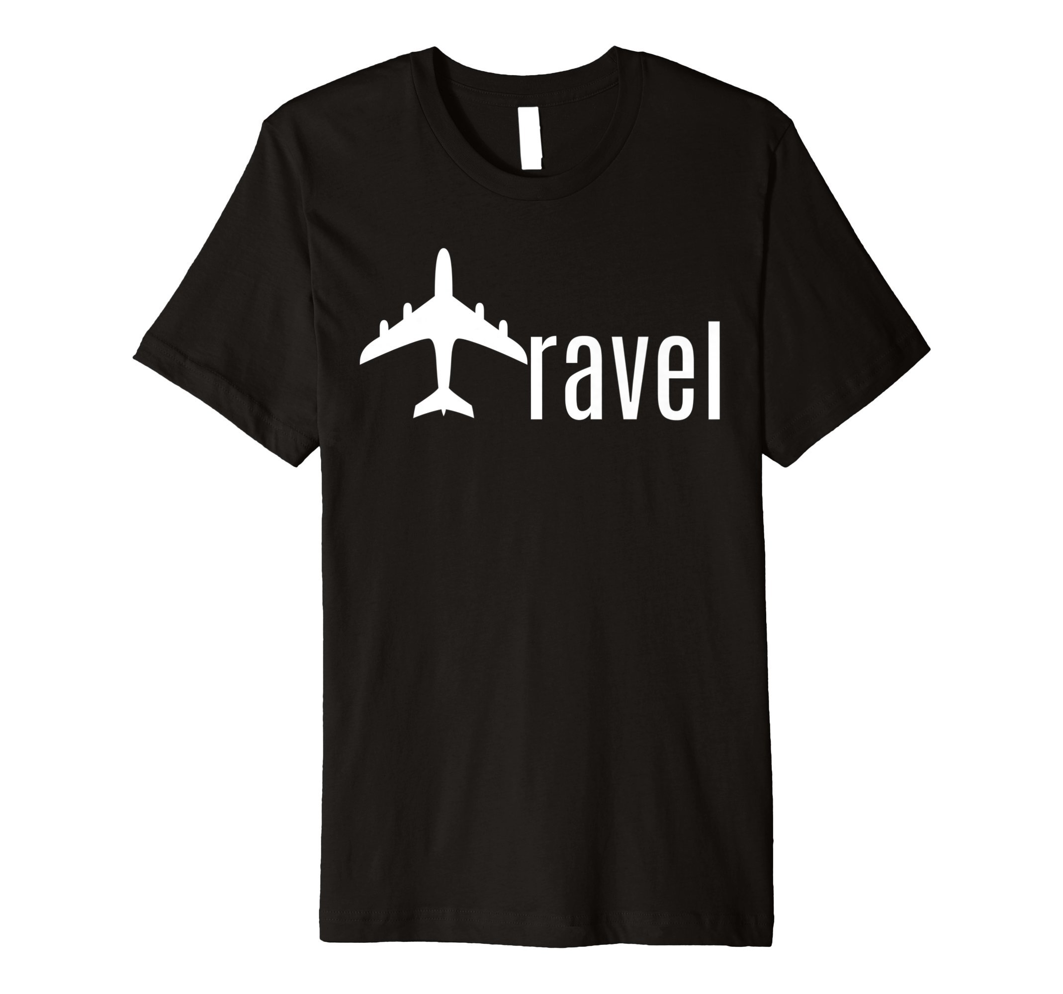 FITTED Minimalistic Travel - plane pun Tee- Traveling Gift