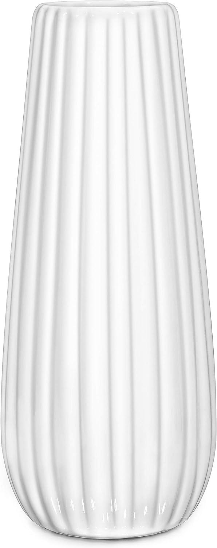Ceramic Vase for Flowers White, TAWCHES