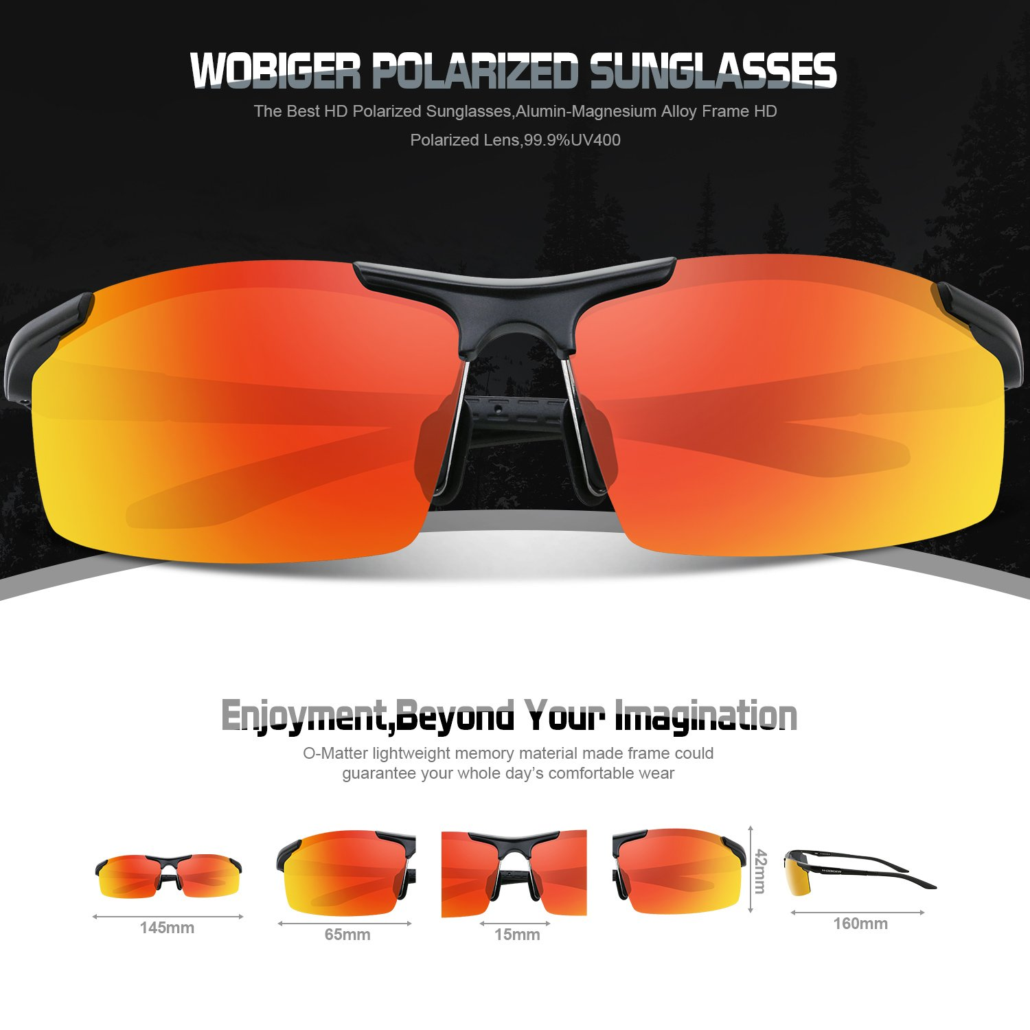 Amazon.com : Men\'s Sports Style Polarized Sunglasses For Cycling ...