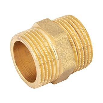 Manchon en laiton chrom/é avec raccord filet/é ou adaptateur pour usage industriel ou domestique 1 1