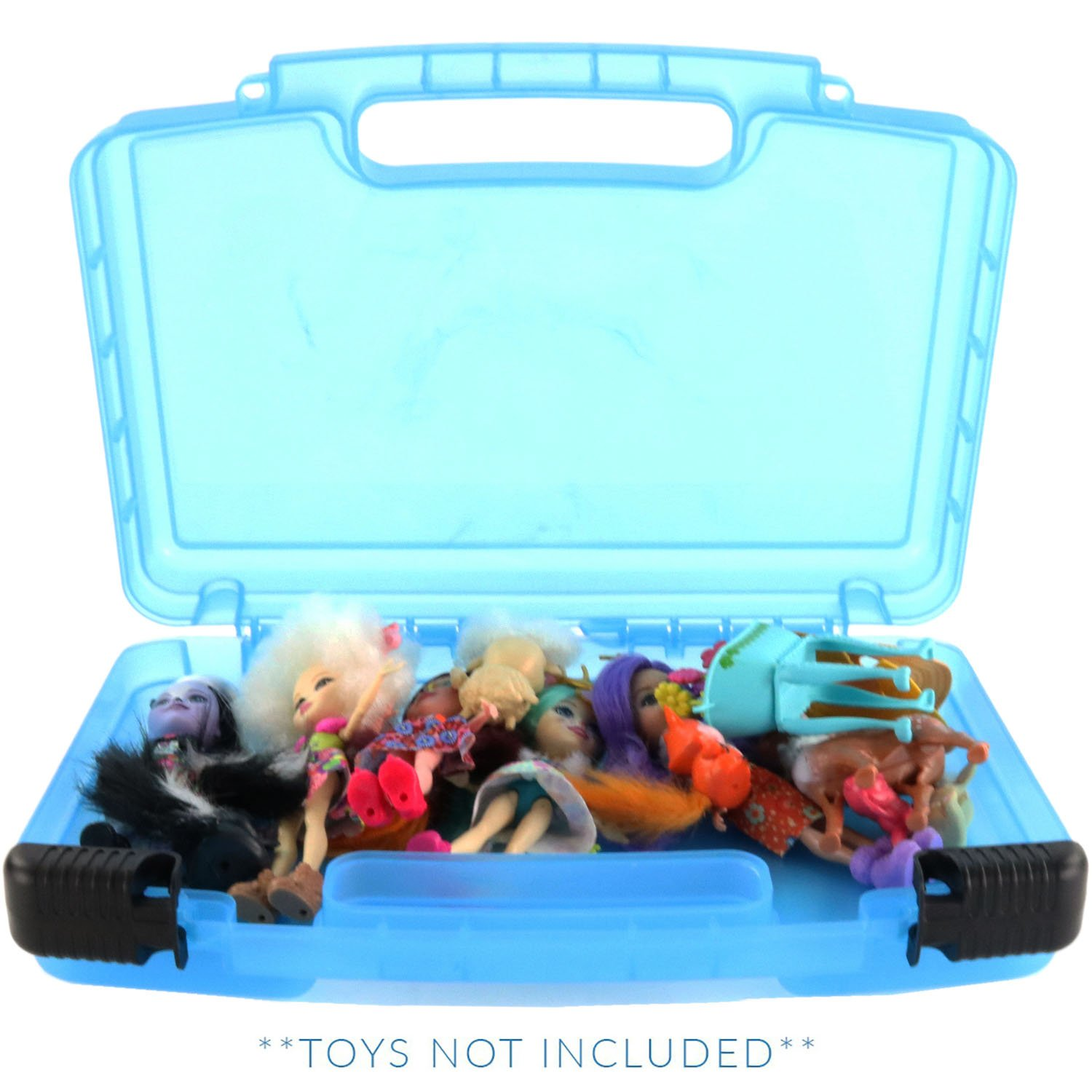 Enchantimals Case, Toy Storage Carrying Box. Figures Playset Organizer. Accessories For Kids by LMB Life Made Better LMB304