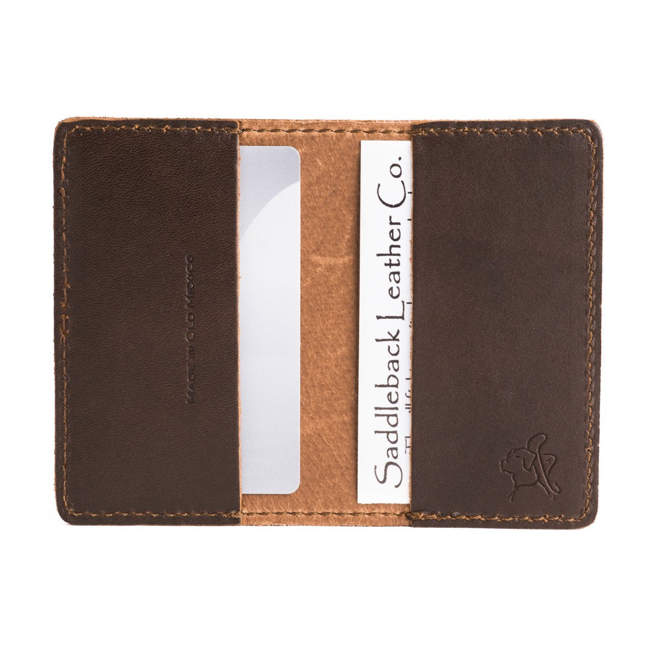 Saddleback Leather Co. Slim Multi Business Card Holder Full Grain Leather Wallet for Men and Women Includes 100 Year Warranty WA-CC-CB