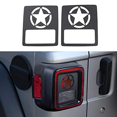 YOUAN Tail Light Cover Rear Lamp Guards Protector for 2020 Jeep Wrangler JL & Unlimited Sport (Five Stars): Automotive