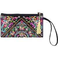 Tinksky Vintage mujer étnica monedero cartera bolsa mariposa