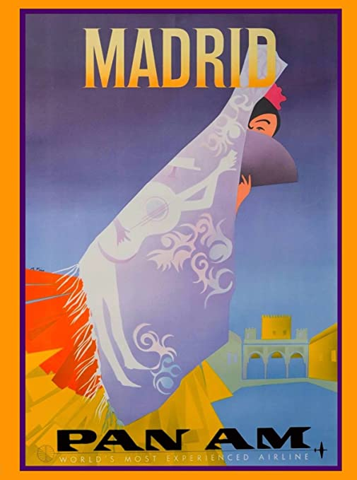 Amazon.com: MAGNET Madrid Spain Spanish Senorita Pan ...