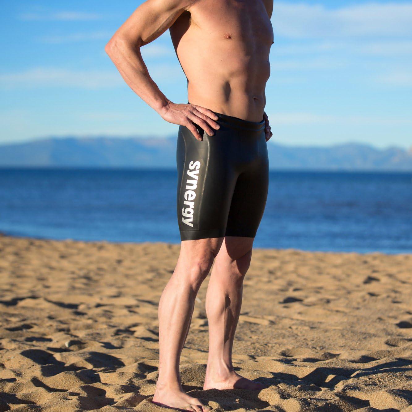 Synergy Triathlon Wetsuit Buoyancy Shorts Mens EpicSpeed Neoprene Shorts for Open Water Swimming