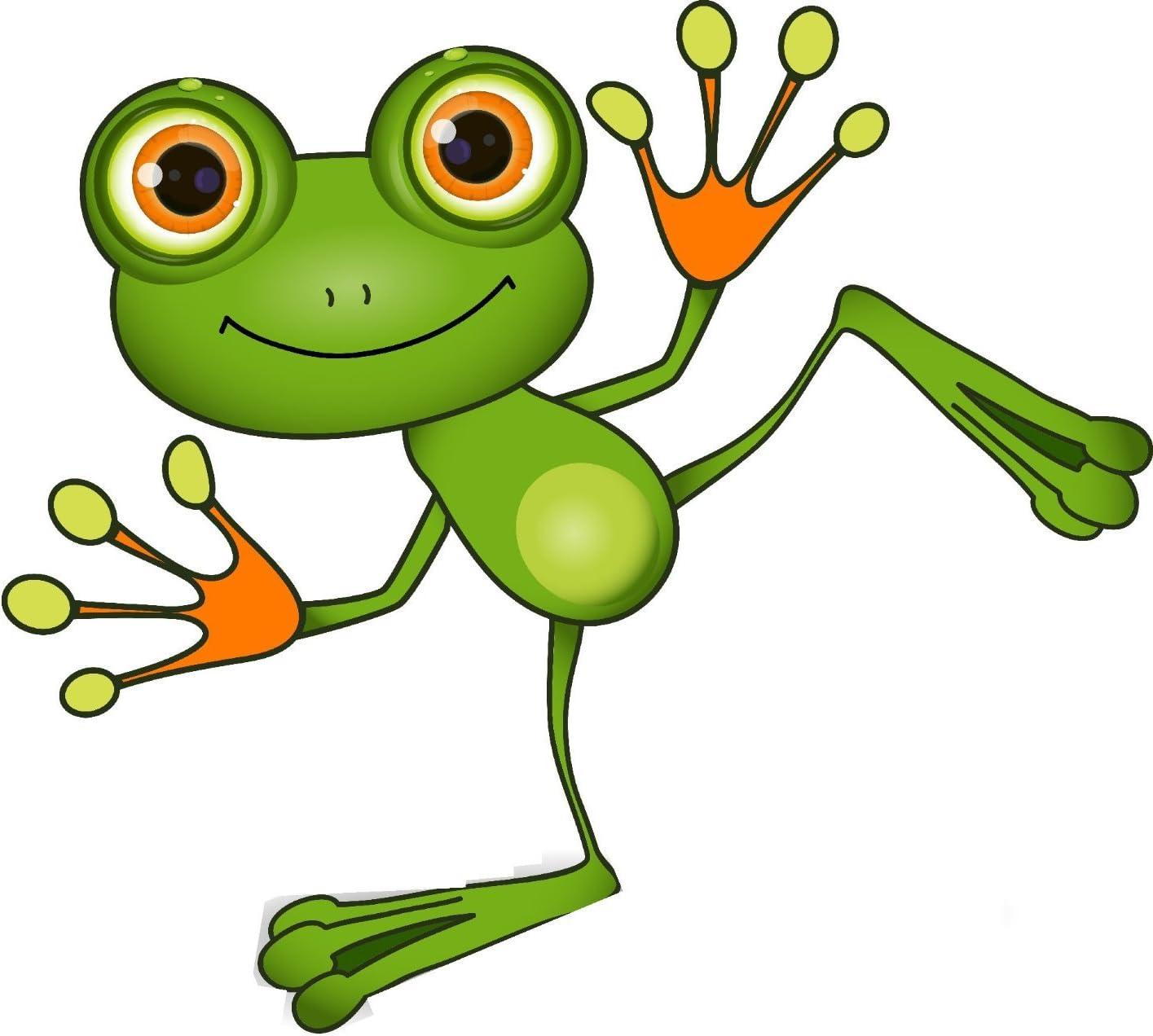 Michael Rene Pflüger Barmstedt Premium Aufkleber 16 5x15 Cm Lustiger Tanzender Frosch Frog Funny Cool Sticker Auto Motorrad Bike Autoaufkleber Auto