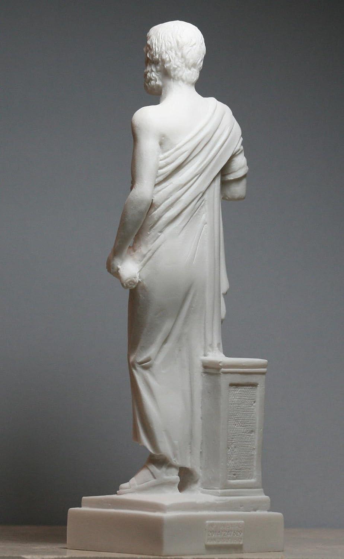 Aristote Philosophe grec et Scientifique alb/âtre Statue Sculpture Figure 9.6/΄ ΄