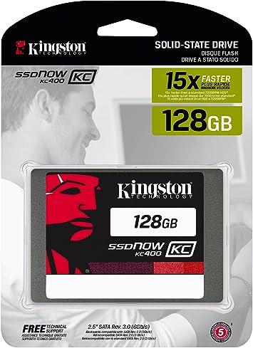 Kingston KC400 SSDNow - Disco Duro sólido de 128 GB (SATA 3, 2.5