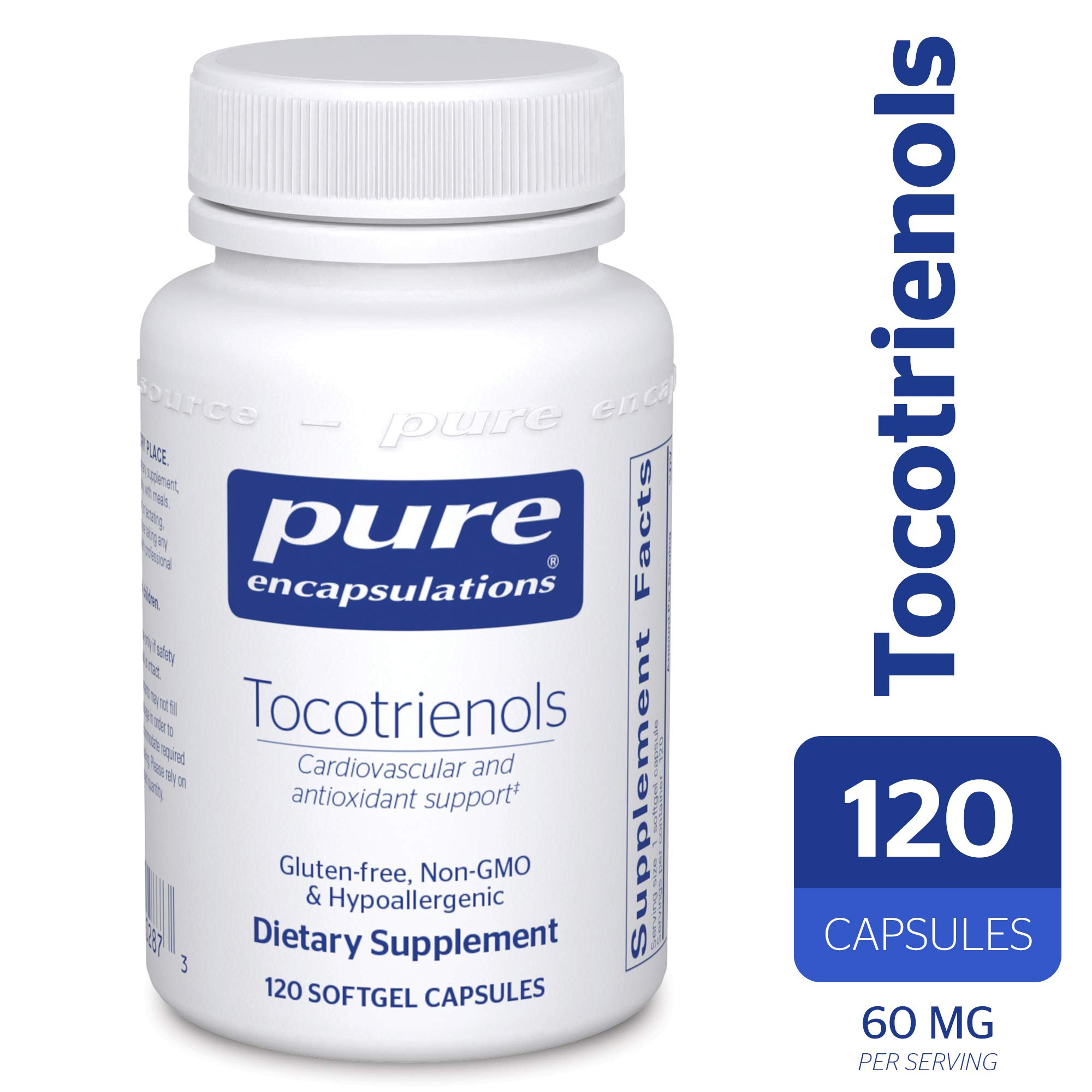 Pure Encapsulations - Tocotrienols - Hypoallergenic Supplement with Mixed Tocopherols for Cardiovascular and Antioxidant Support* - 120 Softgel Capsules