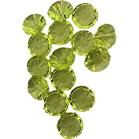 YW Acrylic Imitation Crystal Buttons, for Women's Clothing Decoration DIY Materials Golden Yellow